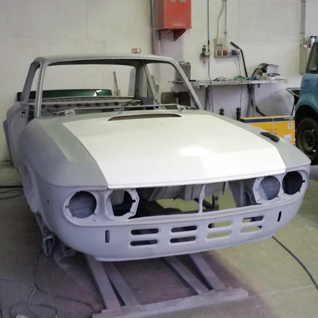 restauro auto d'epoca Lancia Fulvia per Rally Cars