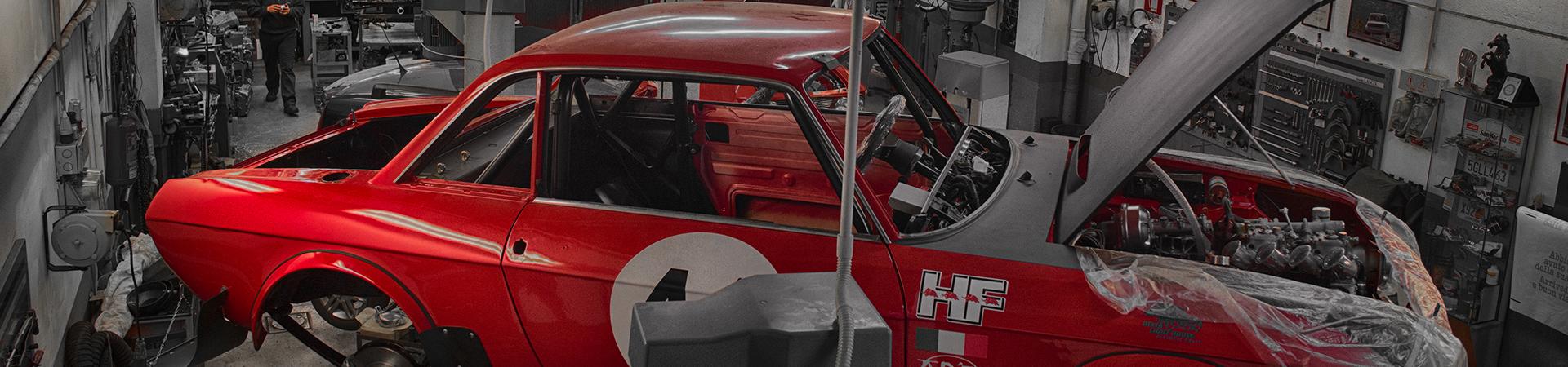 restauro auto d'epoca Lancia Fulvia per rally storici e raduni
